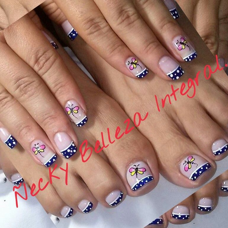 Uñas decoradas con esmalte. | Ideas Ñecky Belleza Integral ...
