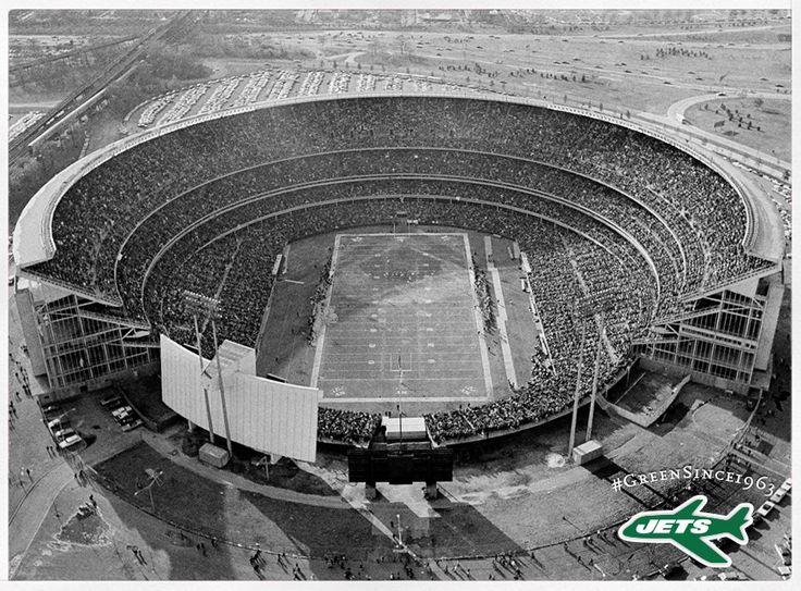 63b52dd433a Shea Stadium (New York). Jets Football. | classic ballparks and ...