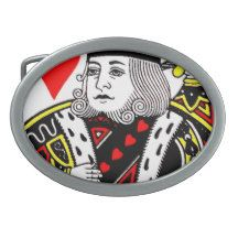 KING OF HEARTS BELT BUCKLES