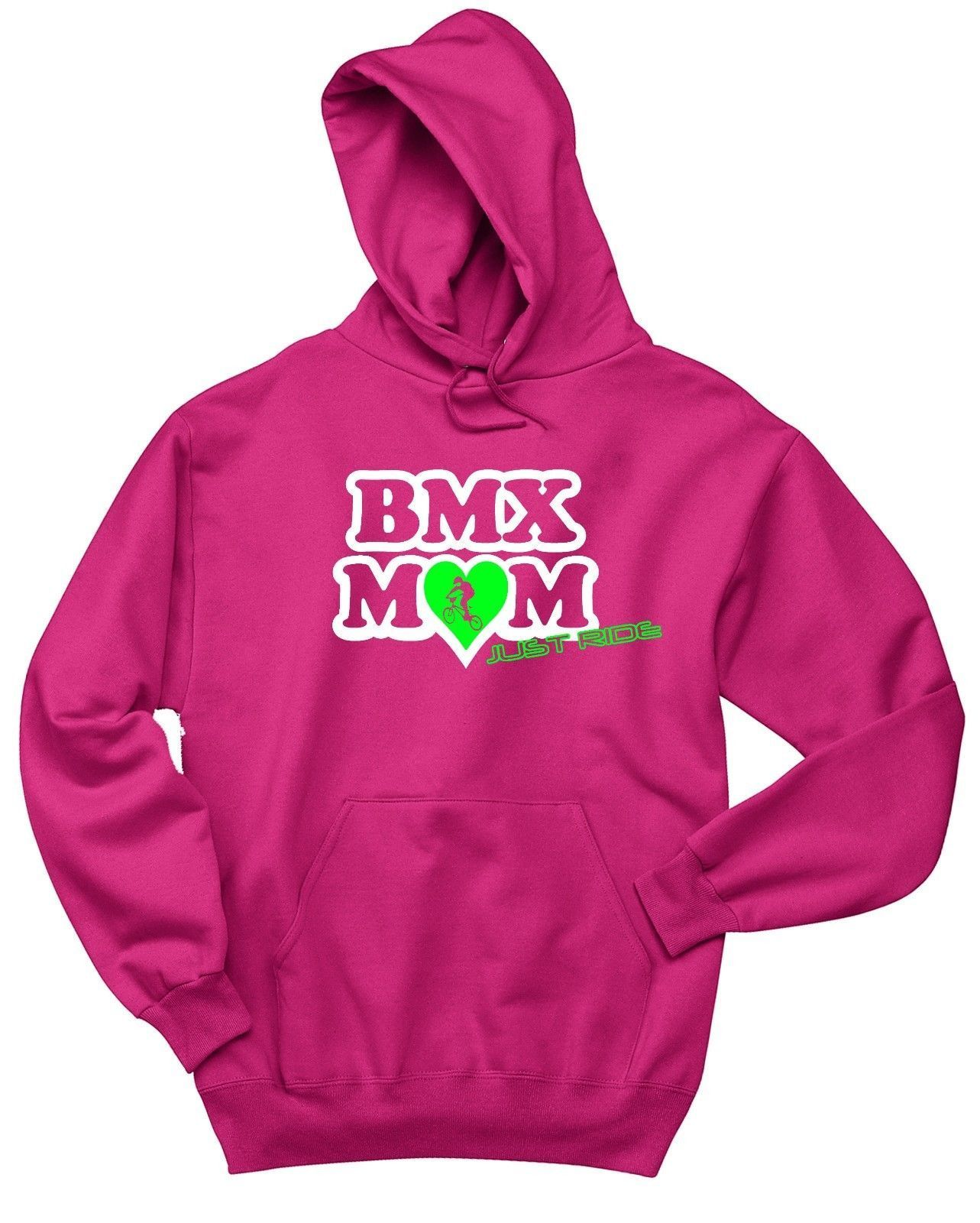 BMX MOM HOODIE SWEAT SHIRT JUST RIDE JUMPER BIKE BICYCLE RACE KINK MUM