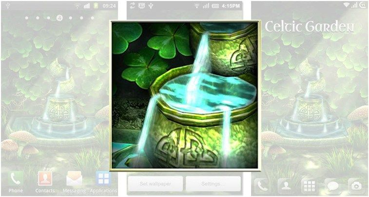 3d Fireflies Live Wallpaper Apk Download Apk Celtic Garden 1 3 1 Android Live Wallpaper