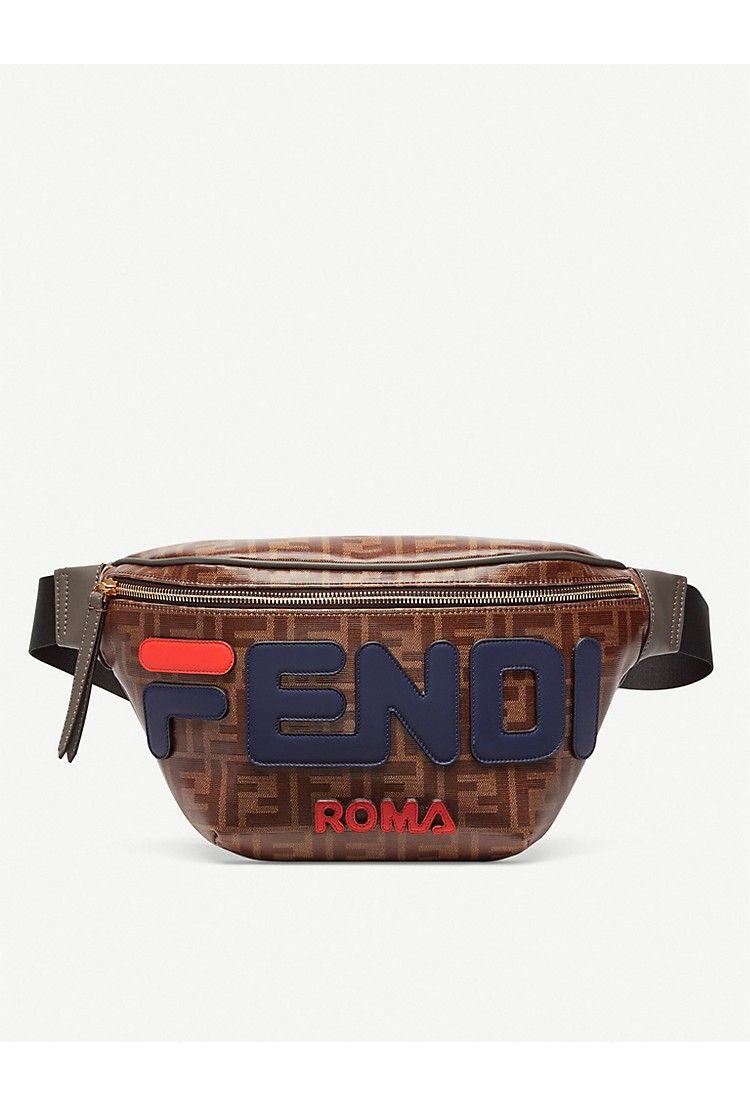 5ac9088aaea FENDI Logo-print canvas and leather belt bum bag | Аксессуары | Bags ...