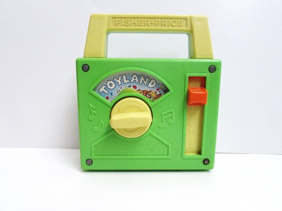Fisher Price Toyland Tote a Tune Music Box Radio by TimelessToyBox, $18.95
