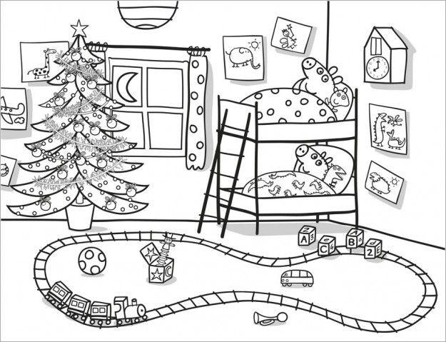 Giochi Di Peppa Pig Colorare.Peppa Pig A Natale Disegni Da Colorare Natalizi Peppa Pig