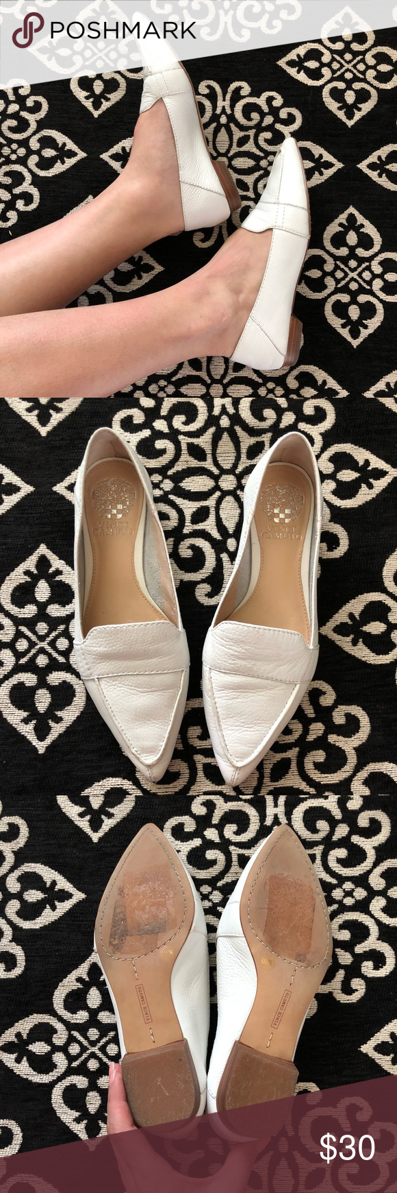 a3c6dc04752 Vince Camuto Maita Flats Vince Camuto Maita flats in white leather. In  excellent condition. Women s size 6. No box. ✖ no trades ✖ Vince Camuto  Shoes ...
