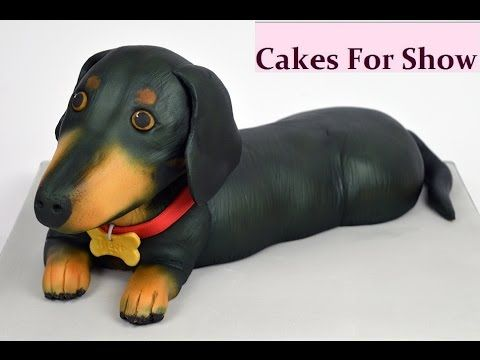 I Was Asked To Make A Replica Of A Pet Dachshund Dog From Cake I