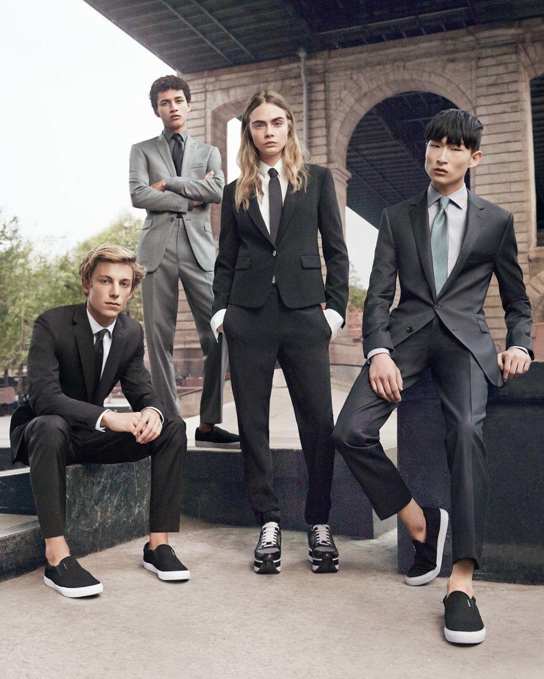 M: Ben Nordberg, Jackson Hale, Jeremy Matos & Cara Delevingne, P: Gregory Harris, S: Jay Massacret (DKNY Menswear SS 2015 Campaign)