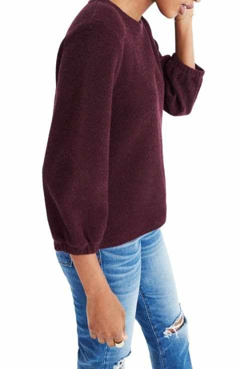 218e4276b3d Madewell Shirred Sleeve Sweater