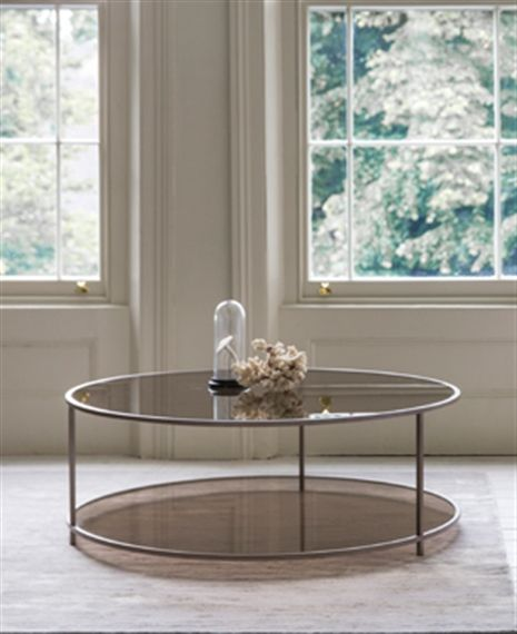 Metal Glass Contemporary Madison Coffee Table