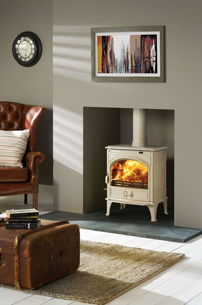 Wood Stove Living Room Design: The Dovre 425 Multi-fuel Stove Has The Style And P