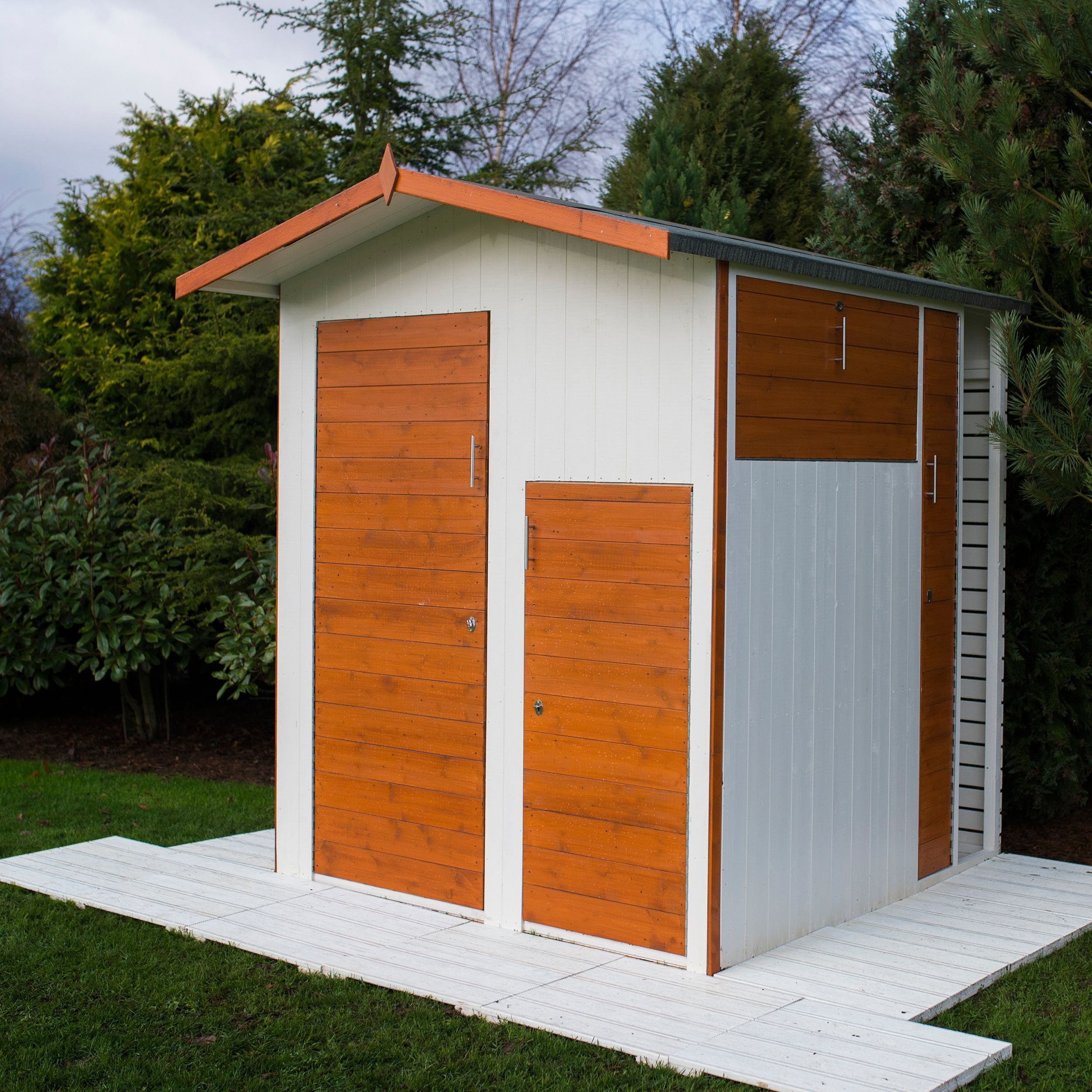 Multi Store 6X6 Apex Shiplap Wooden Shed Departments 400 x 300