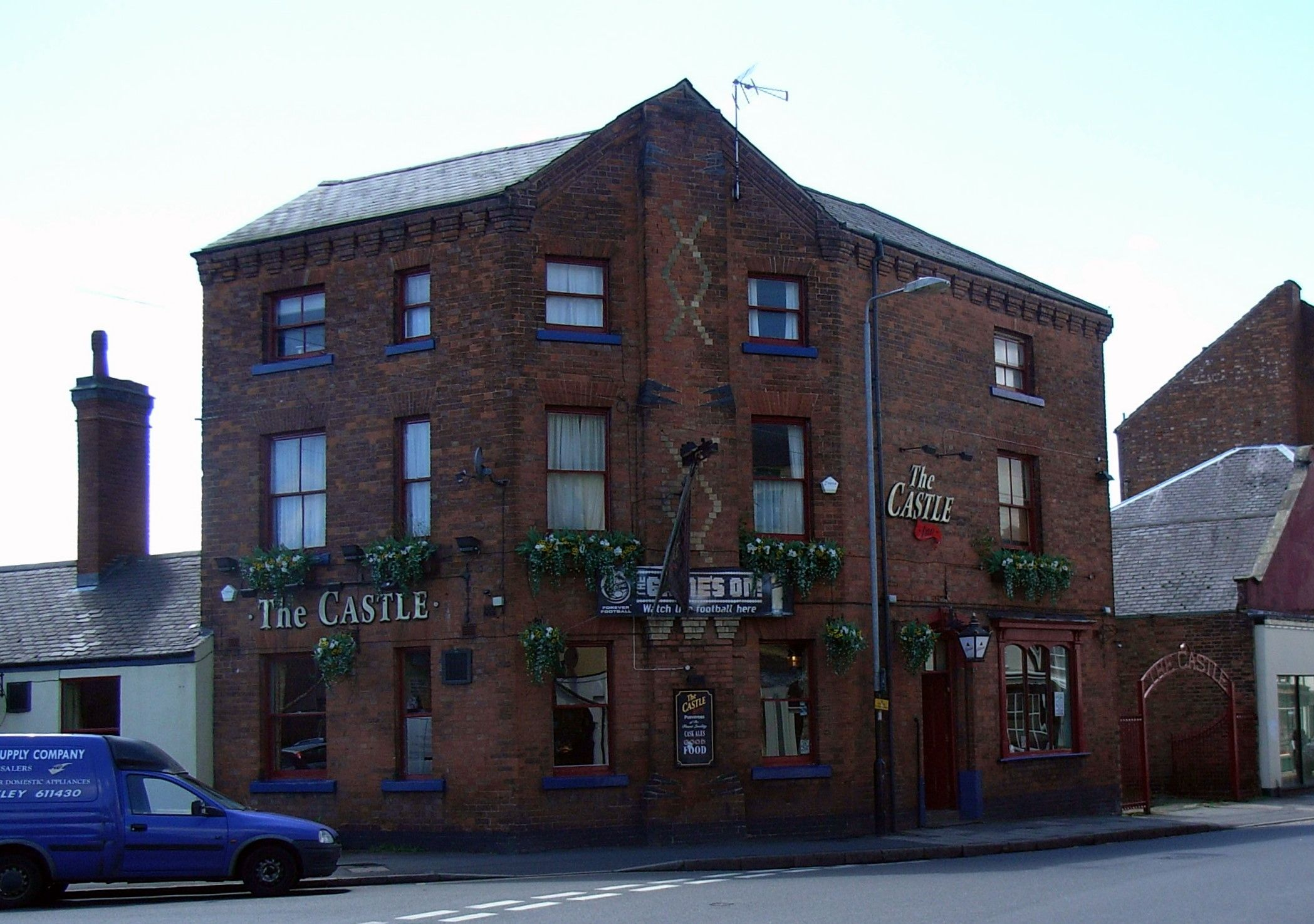 The Castle, a once thriving and very popular Hinckley public house, long since closed down. Now being converted to living accommodation.