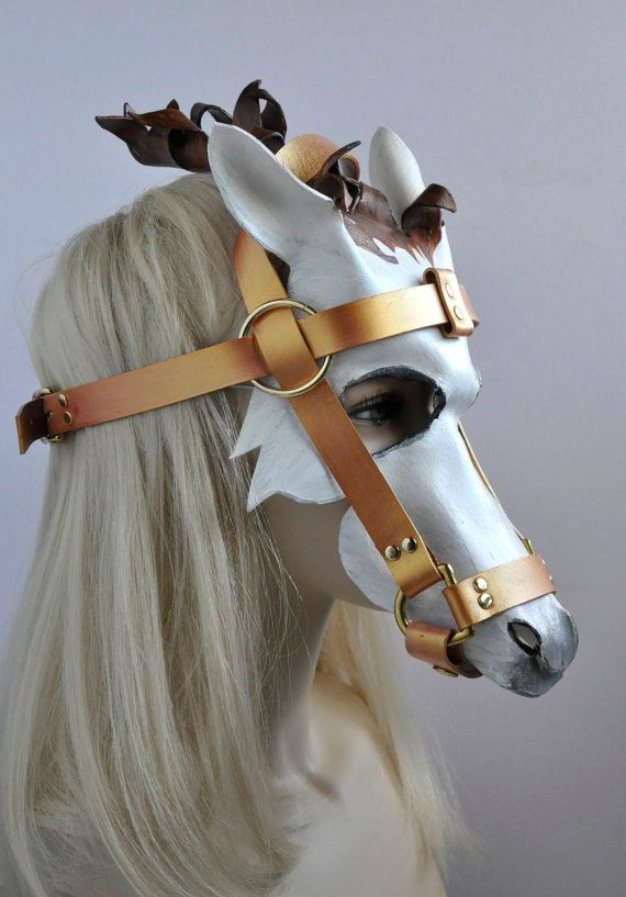 4 white horse masks in leather for cinderellas carriage by hawk 4 white horse masks in leather for cinderellas carriage by hawk deer solutioingenieria Gallery