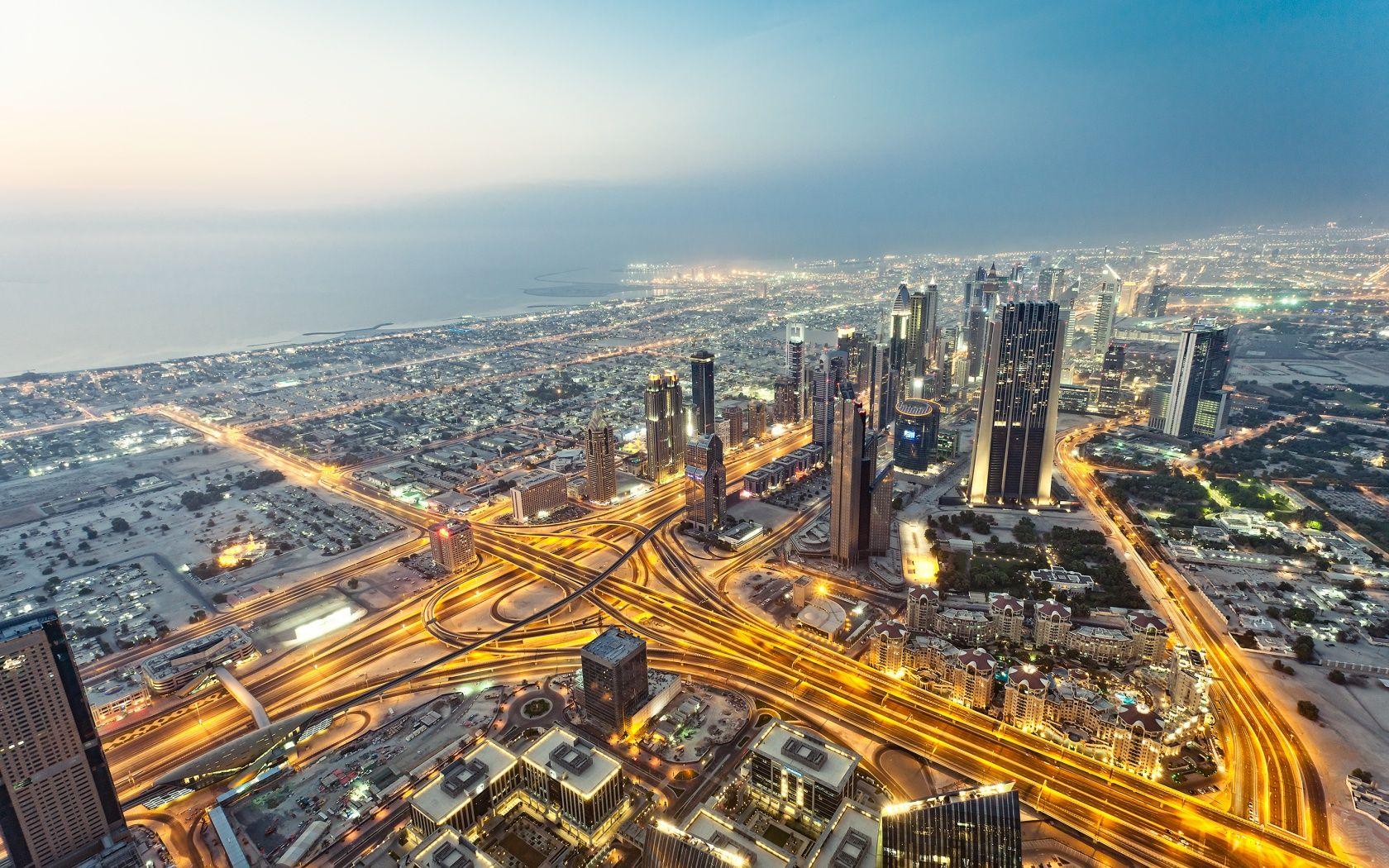 Download High Quality Bike Full Hd Wallpaper In Widescreen: Download HD Burj Khalifa Dubai Eagle Eye View Wallpapers
