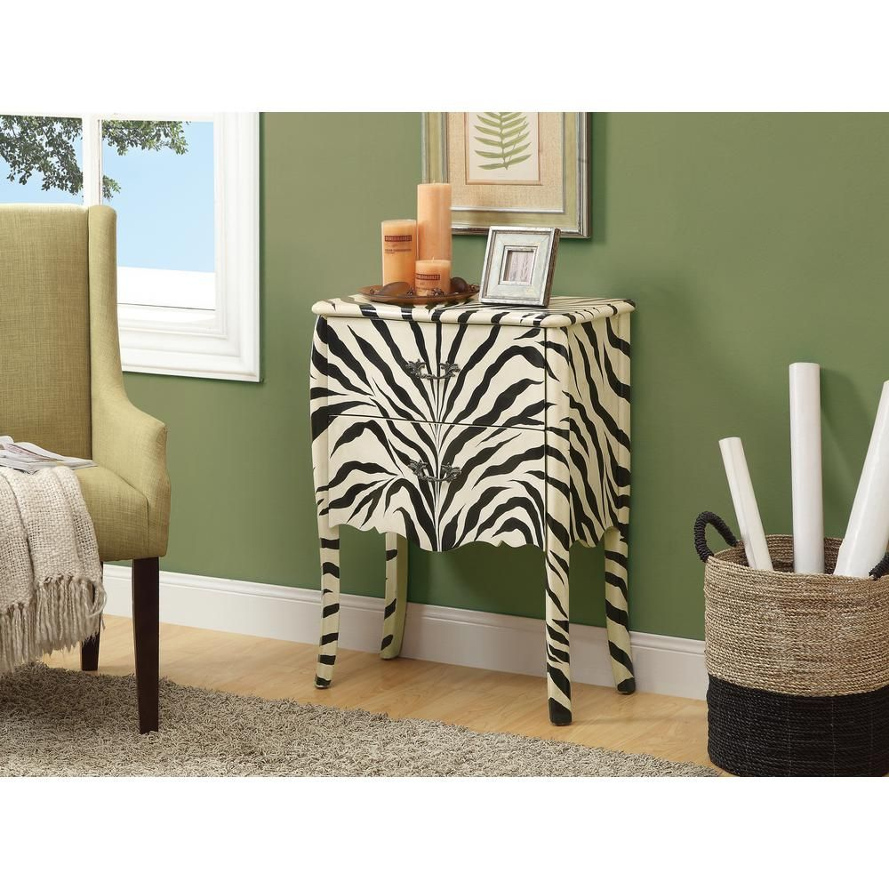 32 in. x 24 in. Transitional Bombay Chest in Zebra