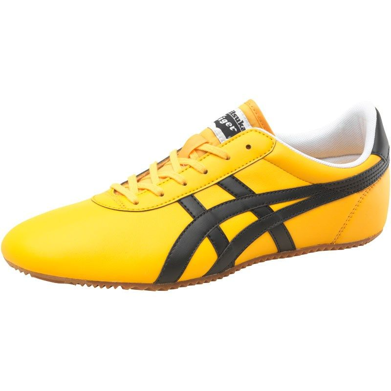 check out f3c26 037b4 Onitsuka Tiger Mens Tai Chi Leather Trainers Yellow/Black in ...