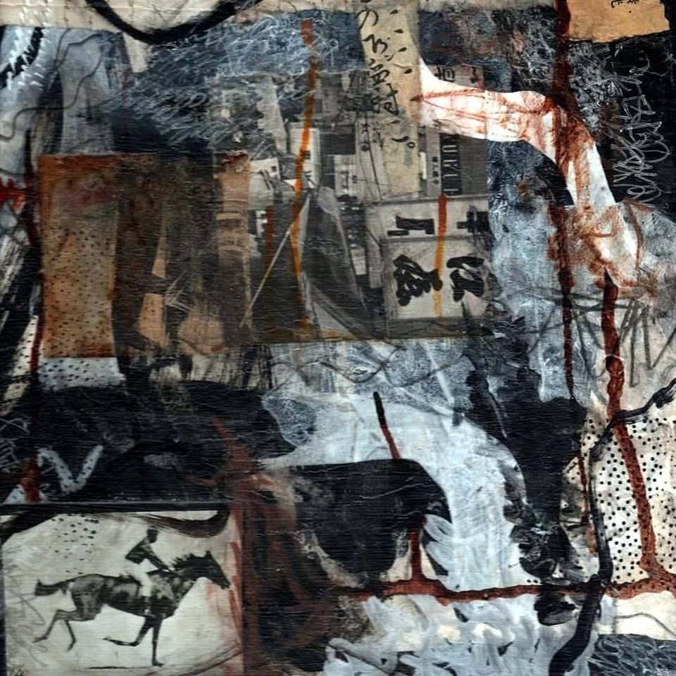 Original mixed media journal painting on gallery wrap canvas