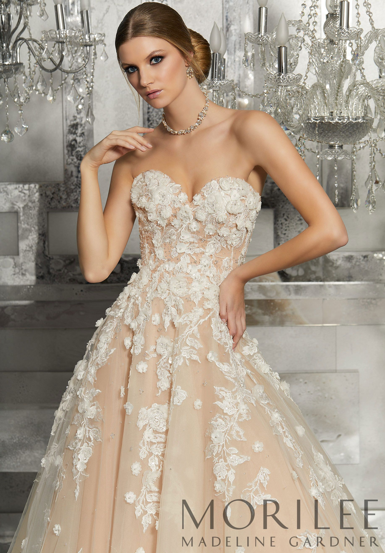 Morilee madeline gardner meadow wedding dress a strapless soft