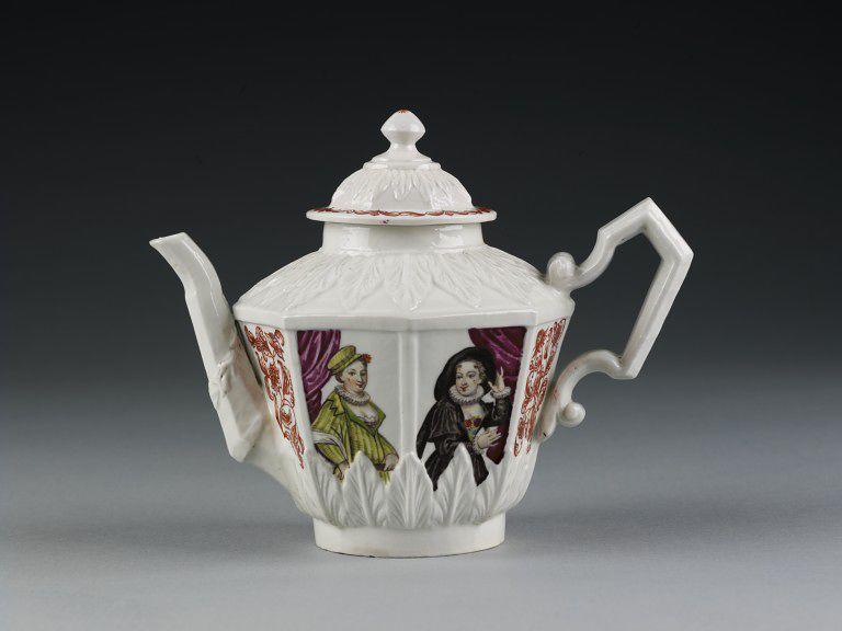 Teapot And Cover Tea Pots Porcelain Chocolate Pots