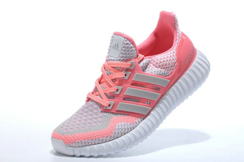 abecc243e9c4 WMNS Adidas Yeezy Ultra Boost 2016 GS Wolf Grey Pink Pow Silver UK Trainers  2017