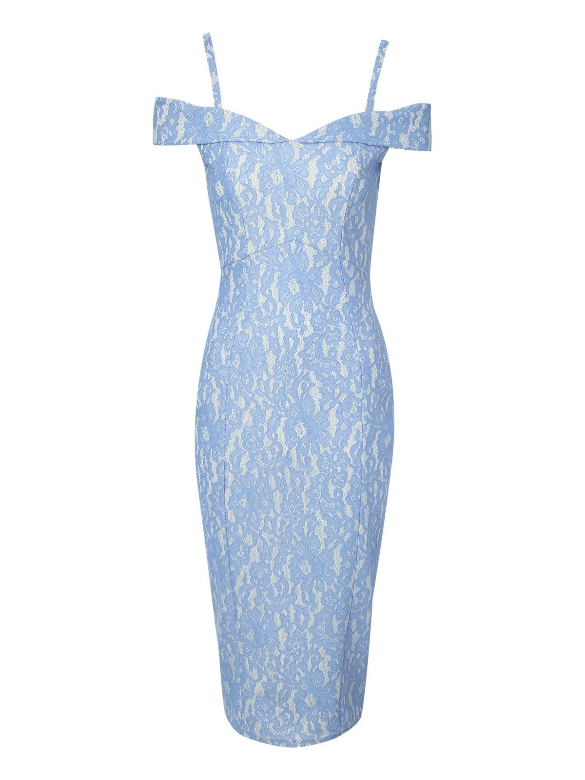 Bonded Lace Bardot Dress | Jane Norman | Dresses, Lace dress