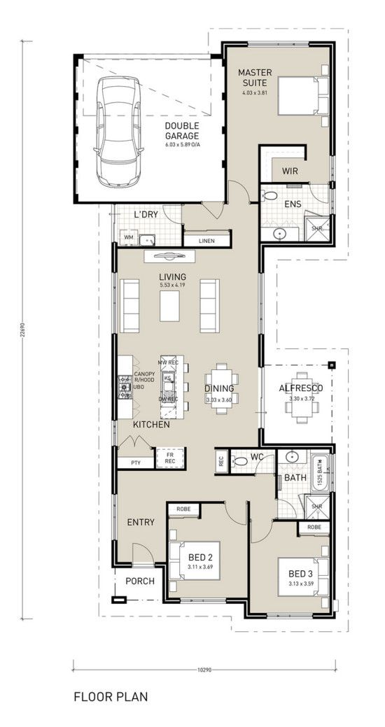 Calypso Premium Narrow Lot Home Plan Single Storey Design Single Storey House Plans Narrow Lot House Plans Narrow House Plans