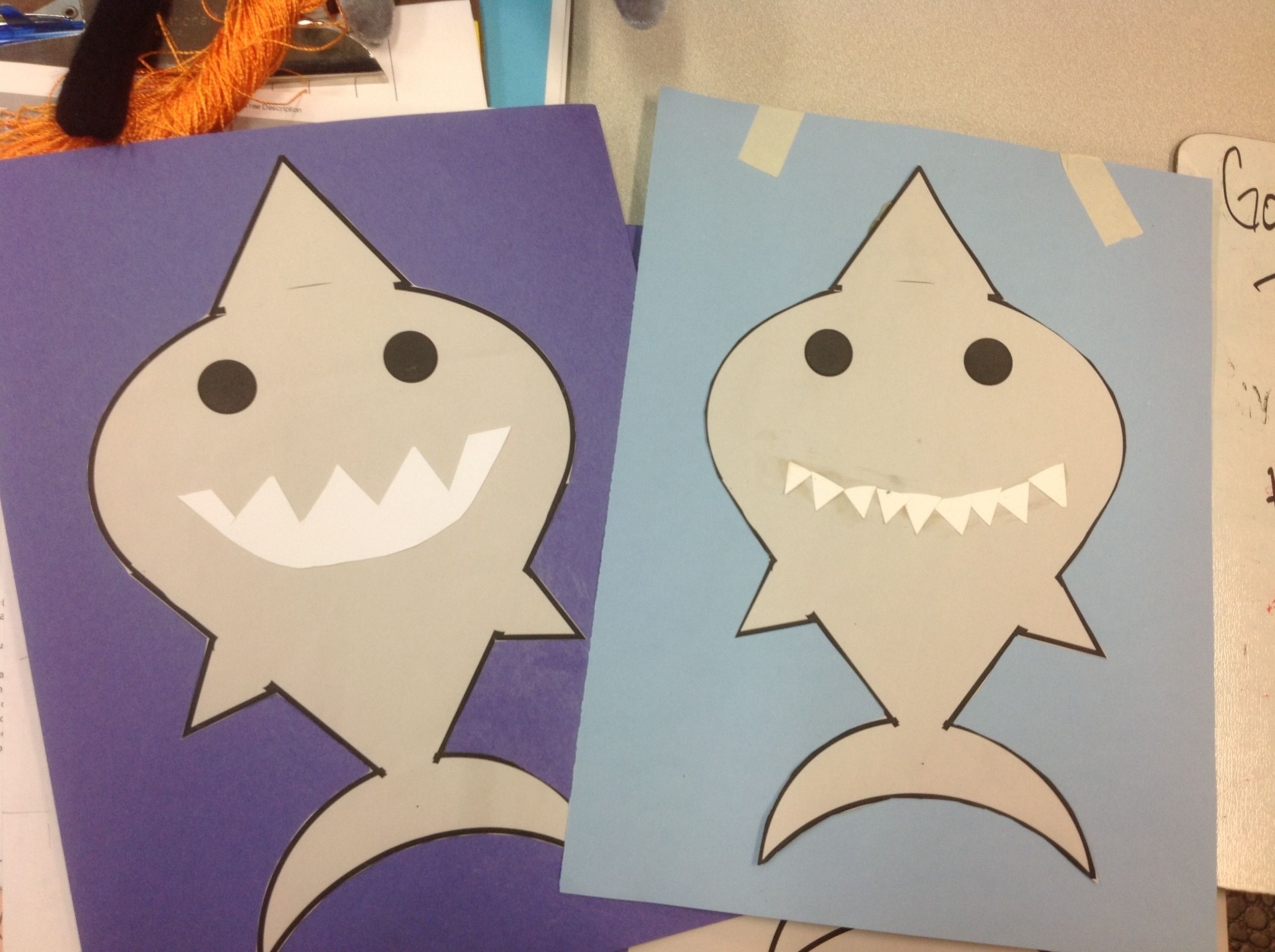 Shark craft for toddlers and preschoolers Template:http