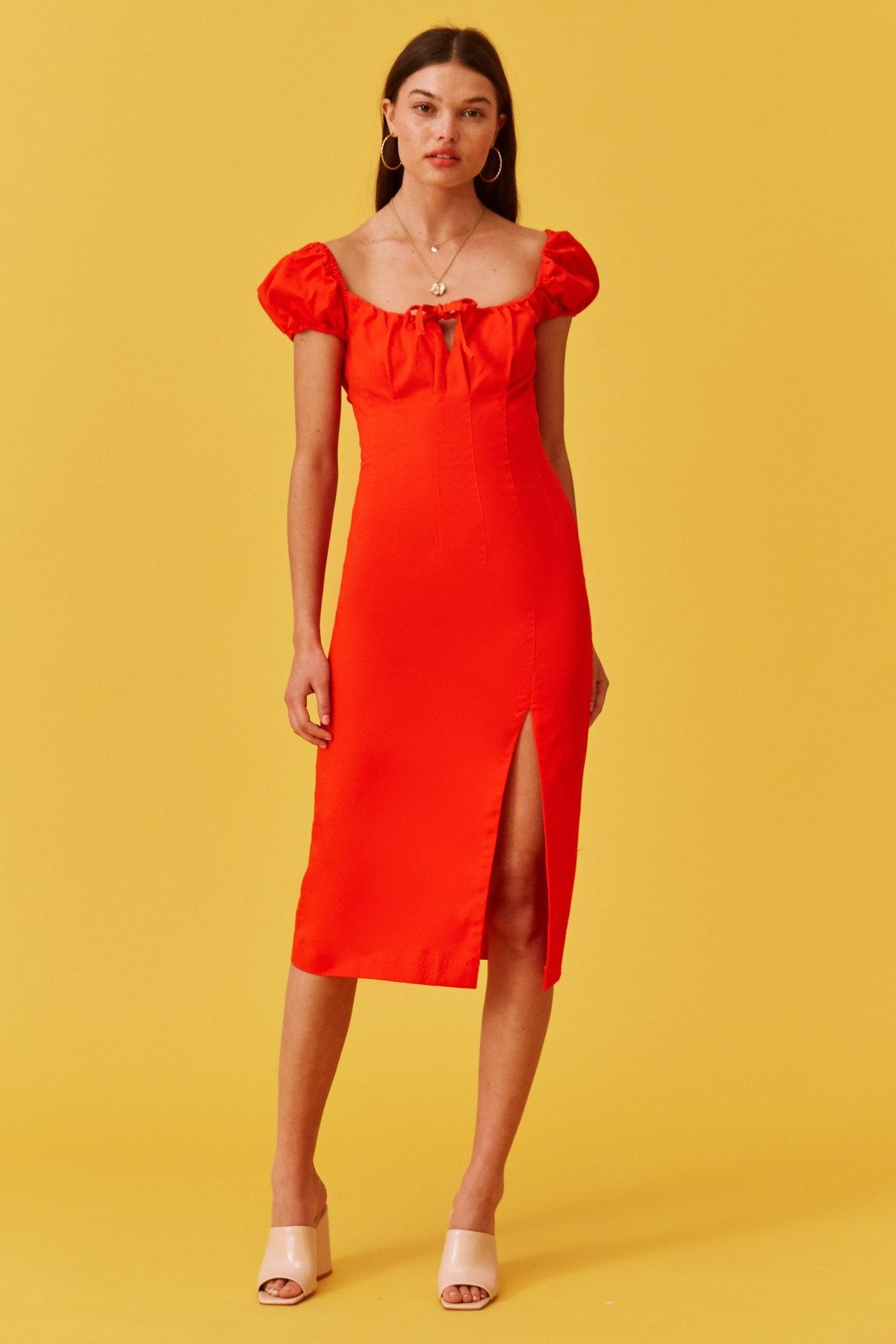 Tutti Frutti Dress Ivory In 2020 Red Dress Dresses Women Dress Online