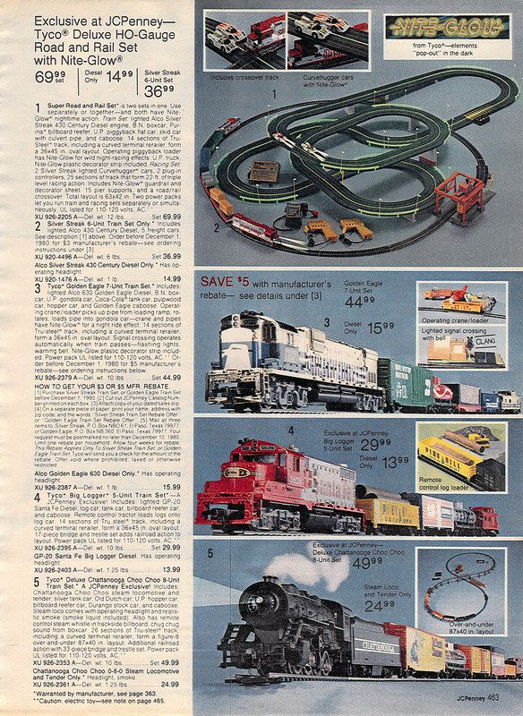 Model Trains from the J C  Penney Christmas Catalog, 1980