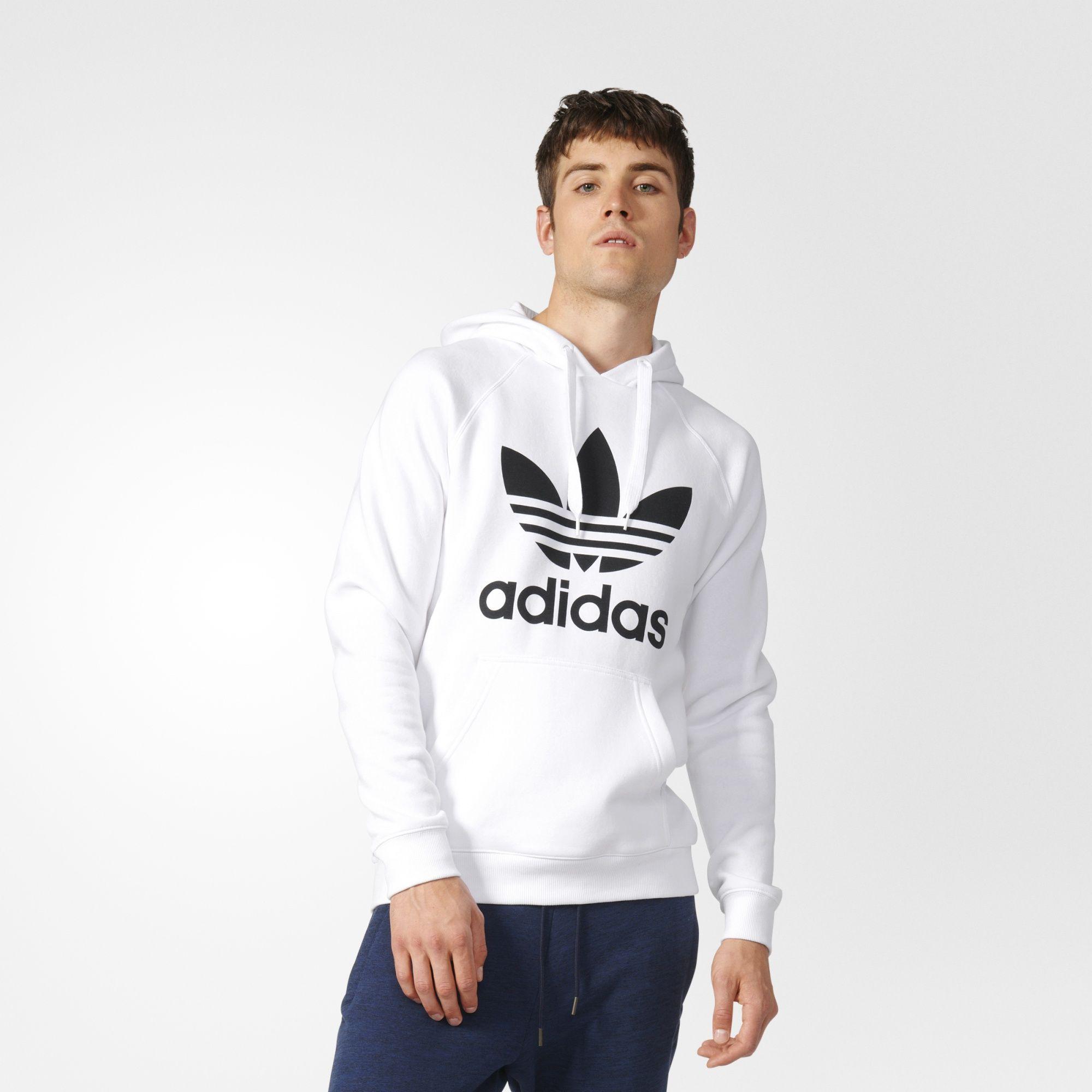 adidas originals white hoodie