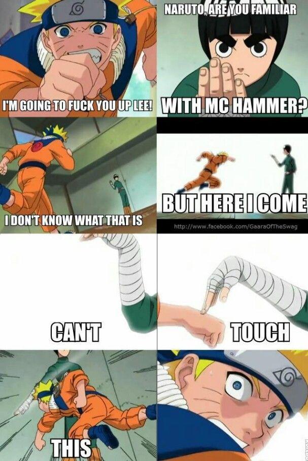 Lee Is Cool D Naruto Funny Rock Lee Naruto Funny Naruto
