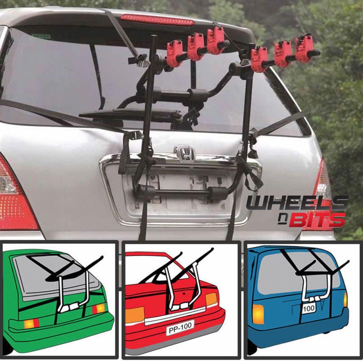 Car Boot 3 Bike Cycle Carrier Rack To Fit Ford Fiesta Focus Ka B