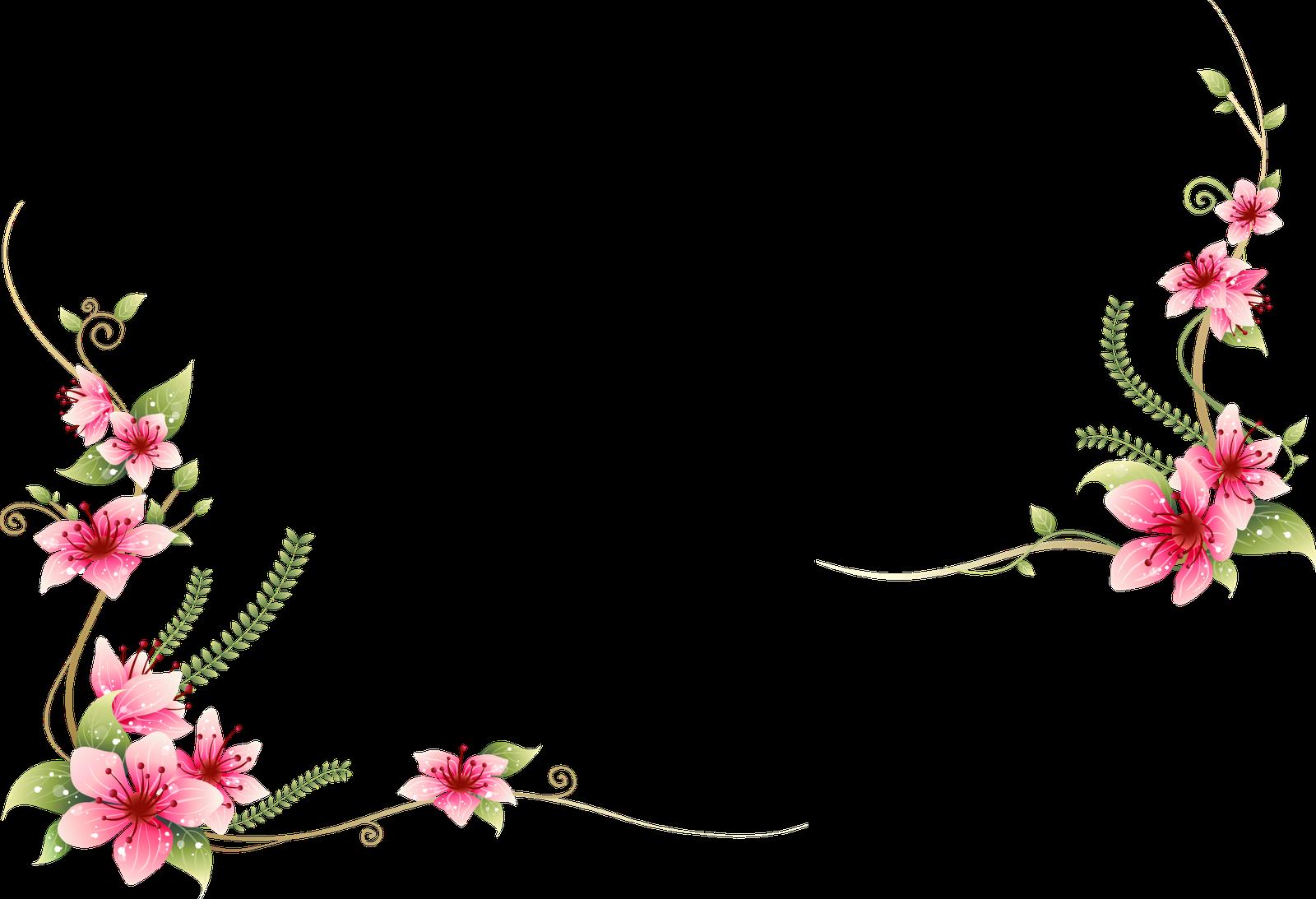 ผลการค้นหารูปภาพสำหรับ frame flower vector png Bingkai
