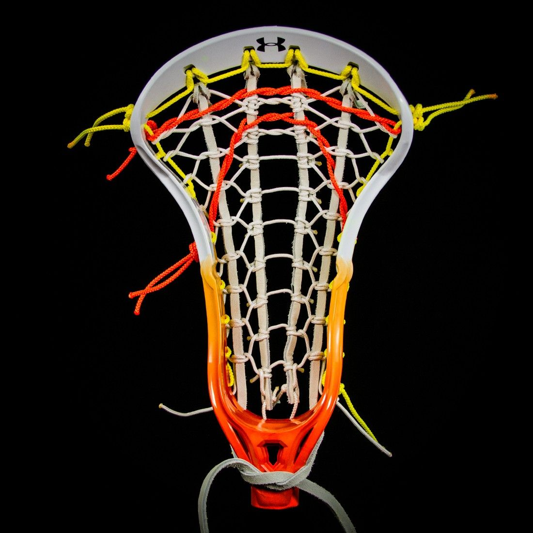 Lacrosse Unlimited Exclusive Design White Orange Fade Girls Complete Head Wch Hand Crafted Dyed Head And C Girls Lacrosse Sticks Lacrosse Girls Lacrosse Gear