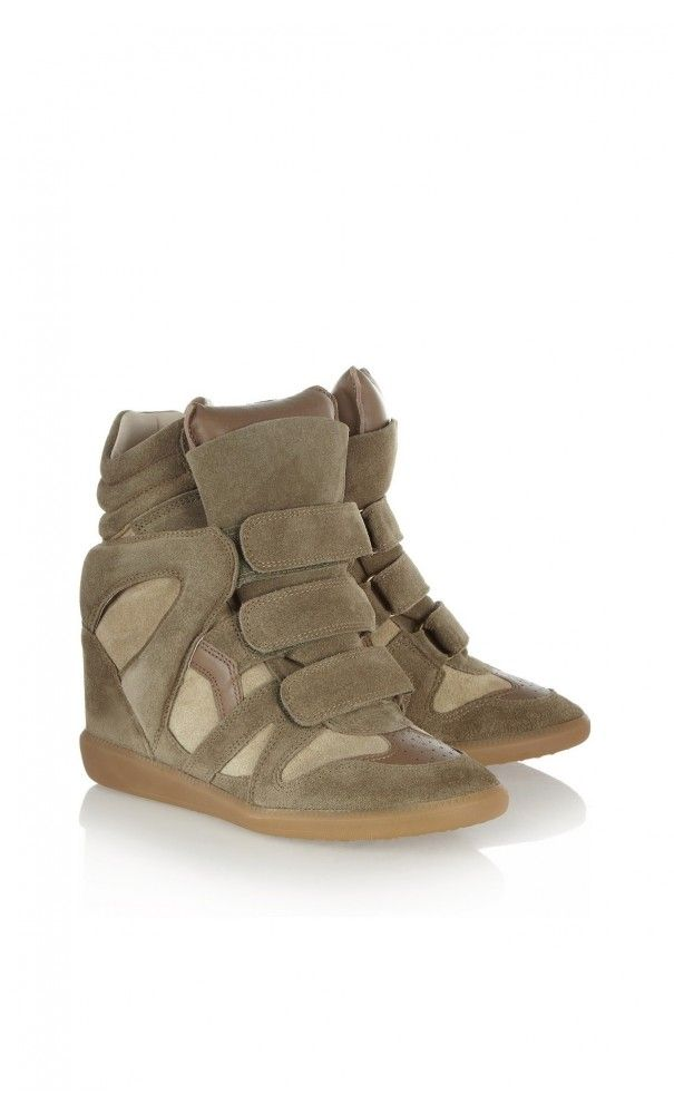 b9a4c9a1987c Isabel Marant The Bekett Suede Concealed Wedge #Sneakers Moleskin Brown