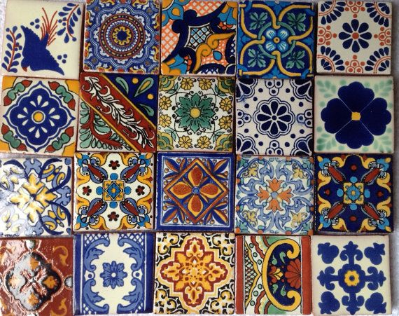 Magnets Ceramic Tiles Mexican Talavera Fridge Magnets