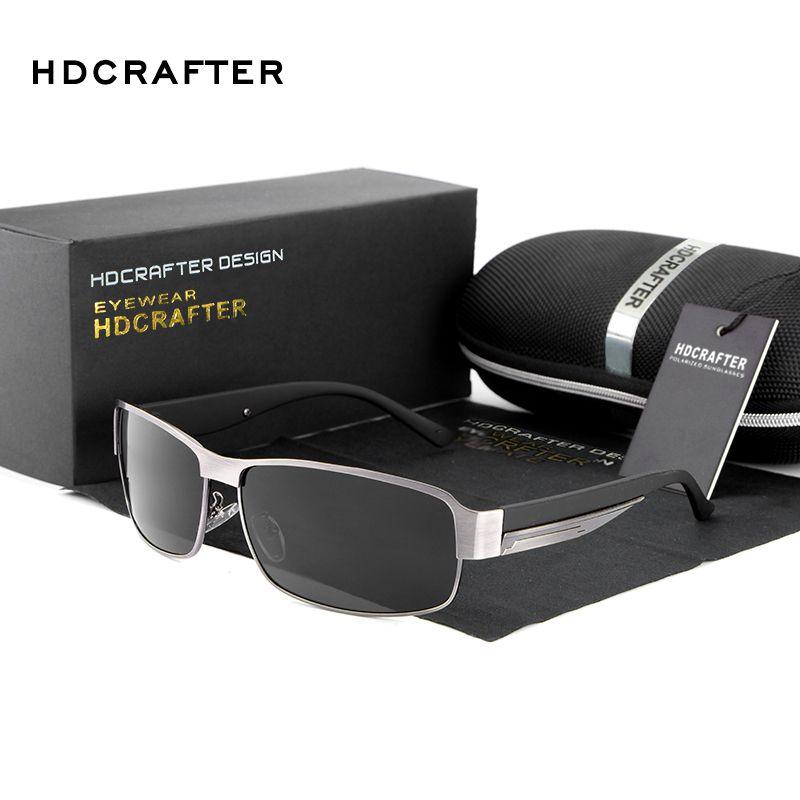 fcd147bb503 HDCRAFTER Fashion Driving Sun Glasses for Men Polarized UV400 Sunglasses  Men Oculos Male gafas de sol Hot