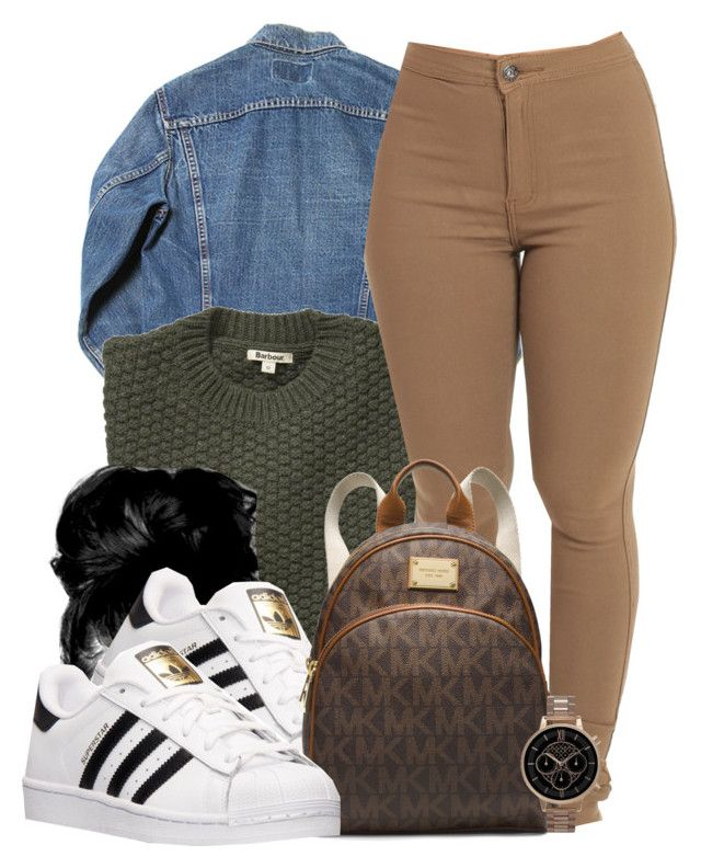 """Untitled #617"" by b-elkstone ❤ liked on Polyvore featuring Barbour, adidas, MICHAEL Michael Kors and Olivia Burton"