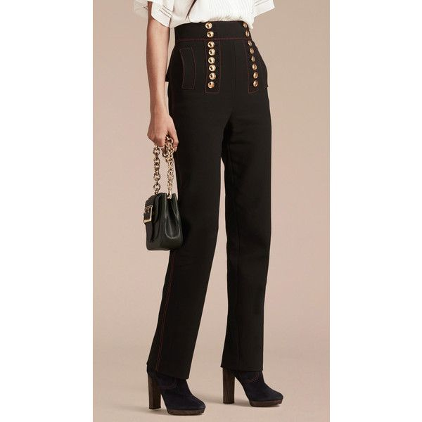 Burberry high waist trousers 2018 Unisex Cheap Price YmakI3xWuI