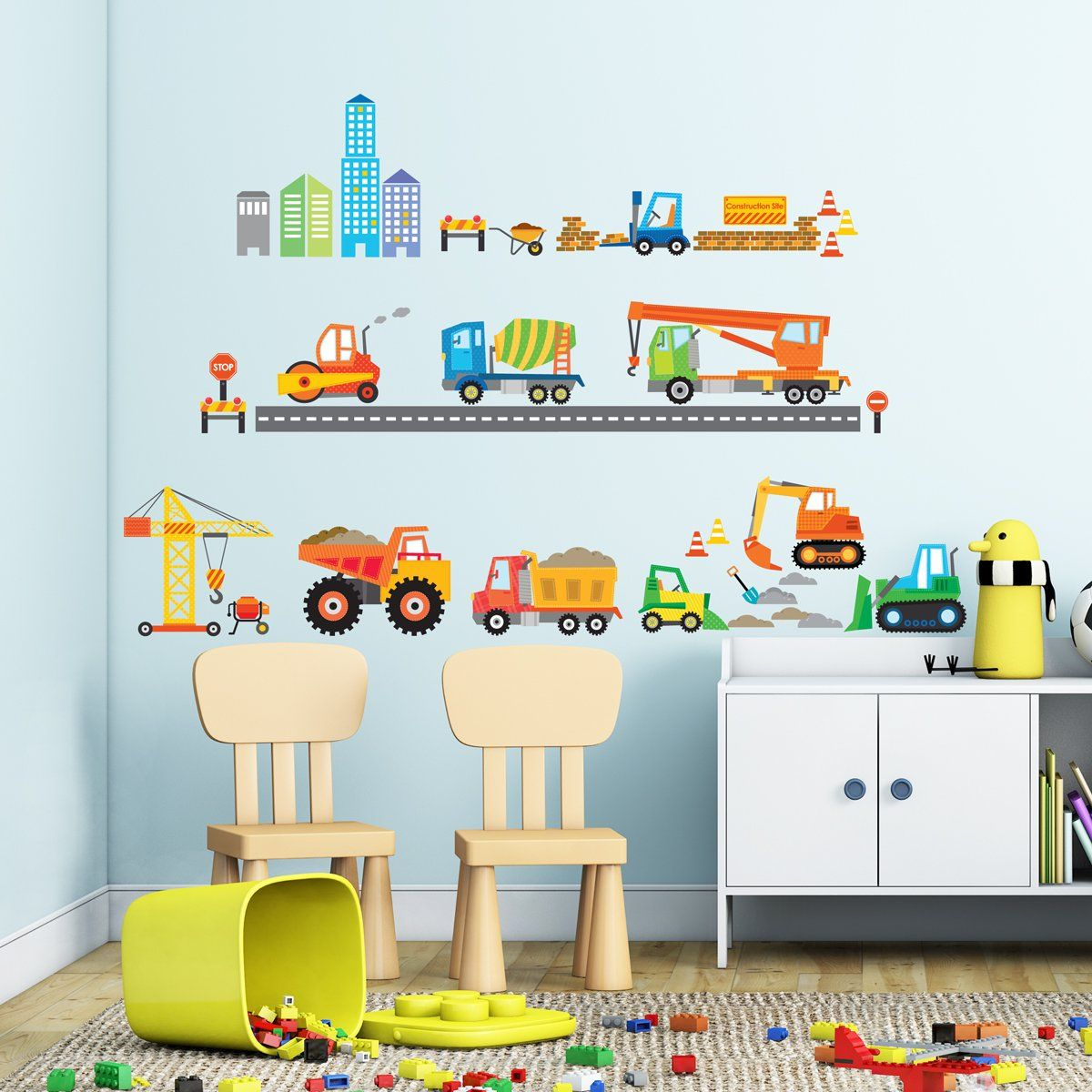 Under Construction Peel /& Stick Wall Decals 100/% Vinyl Removable