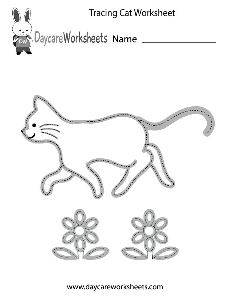 Free Preschool Tracing Cat Worksheet Preschool Tracing Tracing Worksheets Preschool Tracing Worksheets [ 1035 x 800 Pixel ]