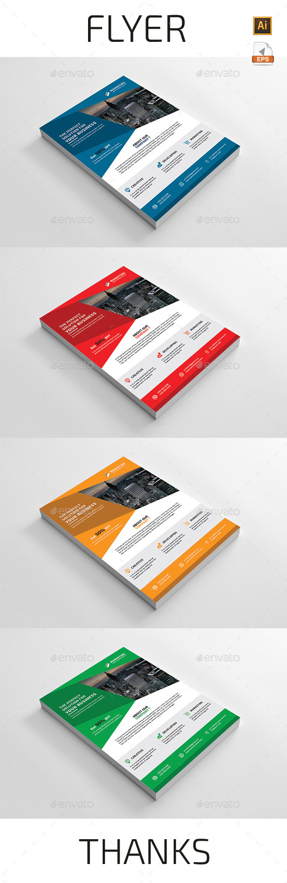 Flyer Template Vector EPS, AI Illustrator | Flyer Templates | Pinterest