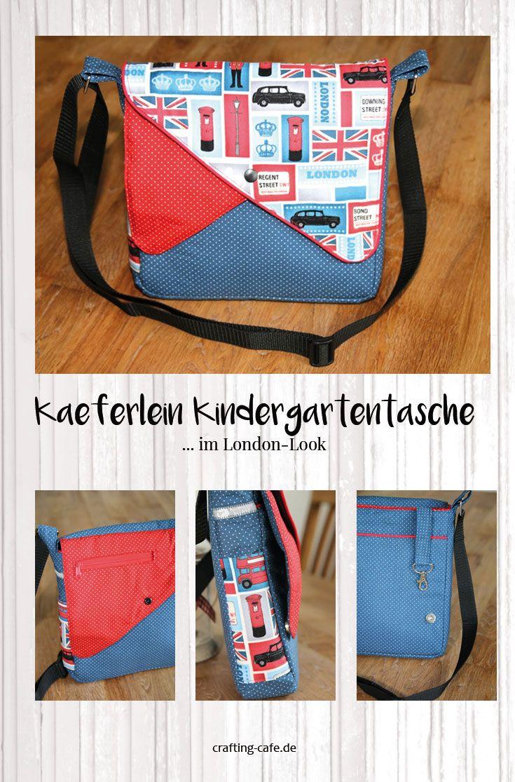 Kindergartentasche nähen: Das London-Käferlein | Pinterest | Blog