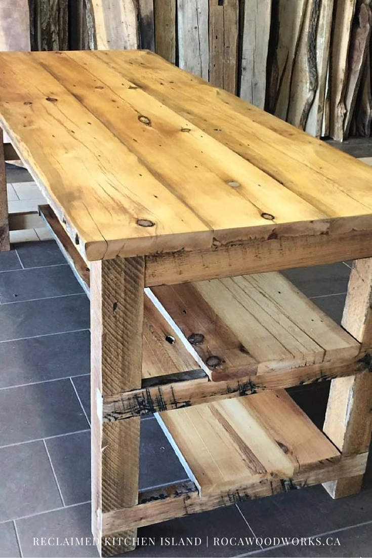 Reclaimed Kitchen Island Ontario Wood | Furniture & Shelving ...