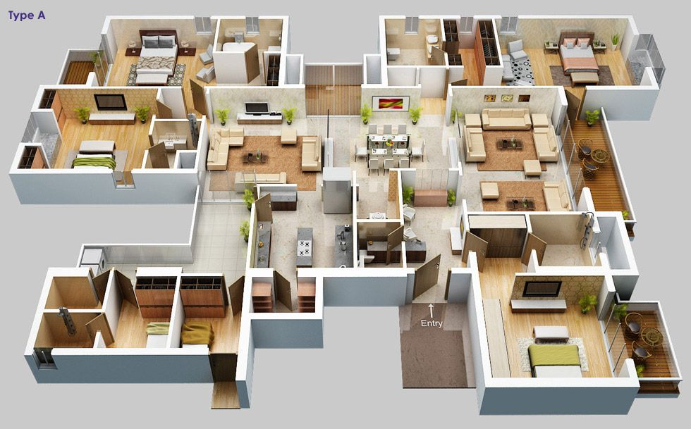 3d floor plan apartment Google Search Architecture – Kissing Tree Site Plan