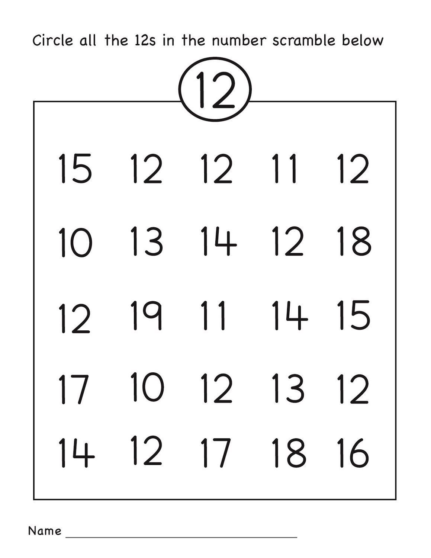 Swell Number 12 Worksheet Circle Grade R Activities Pinterest Easy Diy Christmas Decorations Tissureus