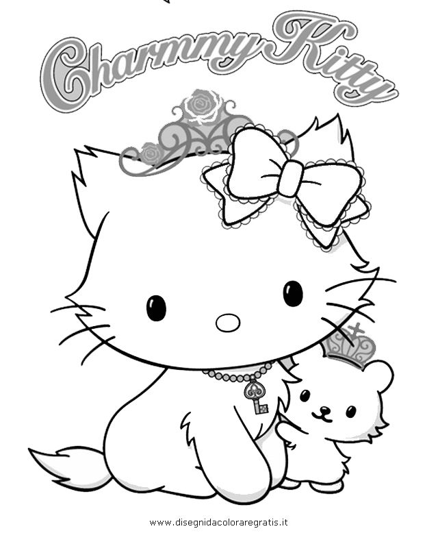 CHARMMY KITTY Coloriage | Coloring Pages | Pinterest | Kitty, Hello ...