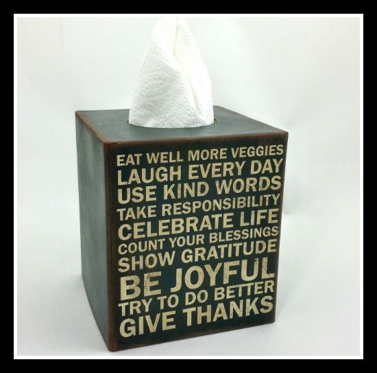 Do Better Tissue Box Cover Inspirational, Need A Few Of These!