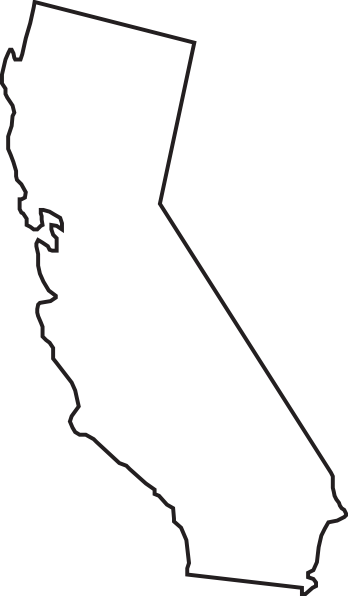 California cali. Outline clip art google