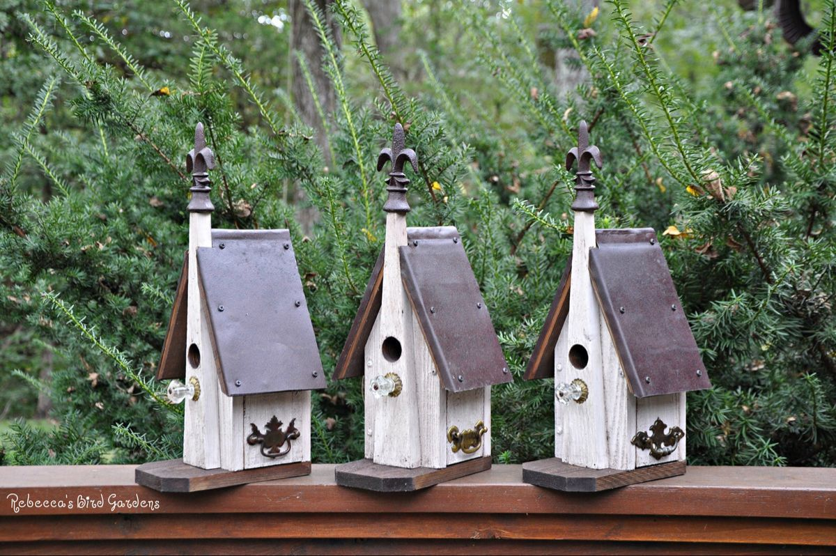 Photo of Rustic Birdhouse ~ The Chapel – Outdoor Birdhouse – Unique Birdhouse – Church Bi…
